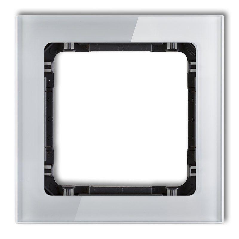 Ramki-pojedyncze - pojedyncza ramka szara/czarna z efektem szkła 15-12-drs-1 deco karlik firmy Karlik