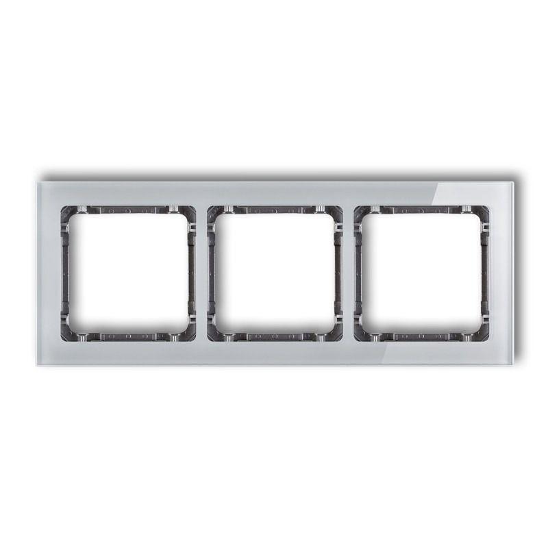Ramki-potrojne - potrójna ramka z efektem szkła szara/grafit 15-11-drs-3 deco karlik firmy Karlik