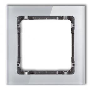 Pojedyncza ramka z efektem szkła szara/grafit 15-11-DRS-1 DECO KARLIK