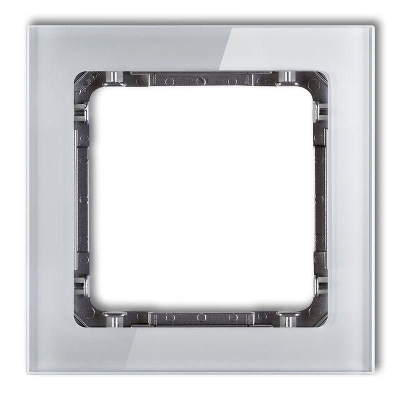 Ramki-pojedyncze - pojedyncza ramka z efektem szkła szara/grafit 15-11-drs-1 deco karlik firmy Karlik