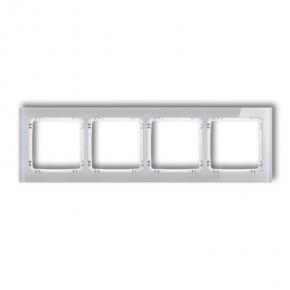 Ramki-poczworne - poczwórna ramka szara/biała z efektem szkła 15-0-drs-4 deco karlik