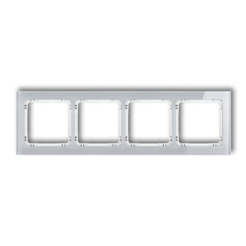 Ramki-poczworne - poczwórna ramka szara/biała z efektem szkła 15-0-drs-4 deco karlik firmy Karlik