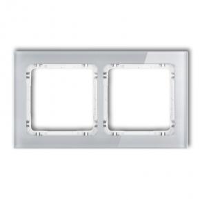 Podwójna ramka z efektem szkła szara/biała 15-0-DRS-2 DECO KARLIK