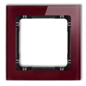 Ramki-pojedyncze - pojedyncza ramka bordowa/czarna efekt szkła 14-12-drs-1 deco karlik