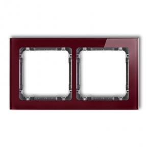 Ramki-podwojne - ramka podwójna efekt szkła bordowa/grafit 14-11-drs-2 deco karlik