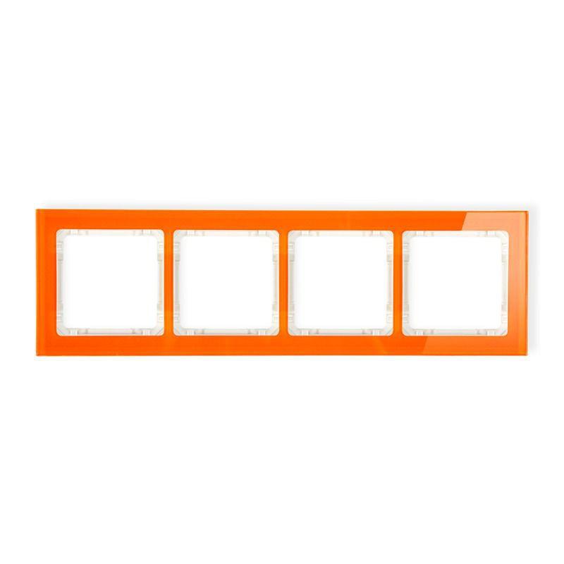 Ramki-poczworne - poczwórna ramka z efektem szkła pomarańczowa/beżowa 13-1-drs-4 deco karlik firmy Karlik