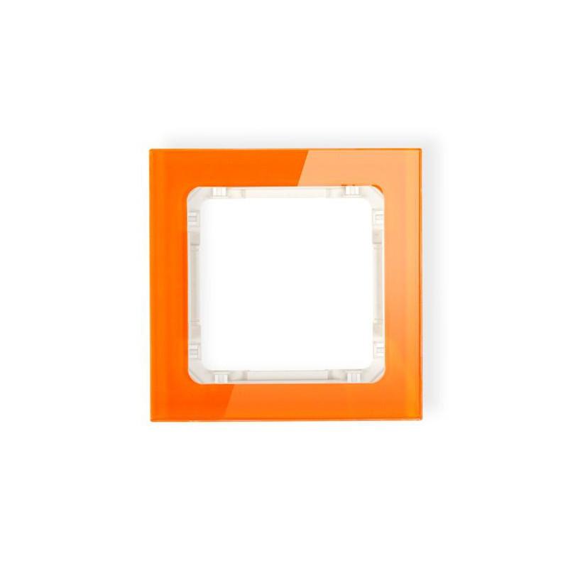 Ramki-pojedyncze - pojedyncza ramka pomarańczowa/beżowa z efektem szkła 13-1-drs-1 deco karlik firmy Karlik