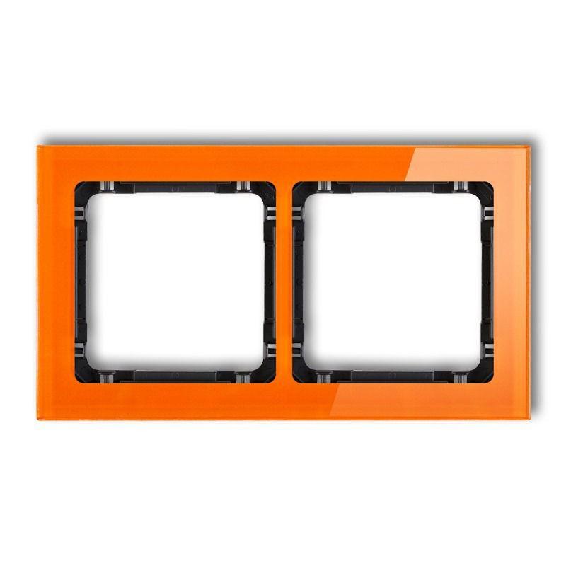 Ramki-podwojne - podwójna ramka pomarańczowa/czarna efekt szkła 13-12-drs-2 deco karlik firmy Karlik