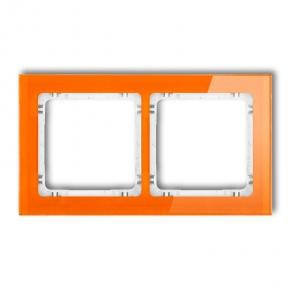 Ramki-podwojne - podwójna ramka pomarańczowa/biała z efektem szkła 13-0-drs-2 deco karlik