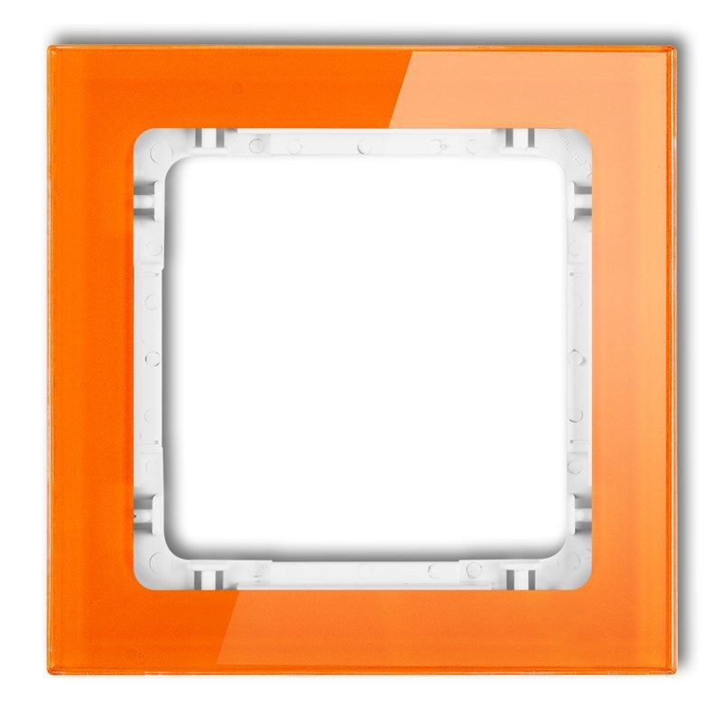 Ramki-pojedyncze - pojedyncza ramka pomarańczowa/biała 13-0-drs-1 deco karlik firmy Karlik