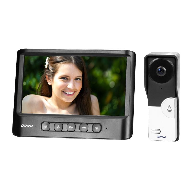 Wideodomofony - zestaw wideodomofonowy imago 7 czarny or-vid-mc-1059/b orno firmy ORNO