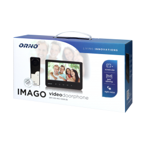 Wideodomofony - zestaw wideodomofonowy imago 7 czarny or-vid-mc-1059/b orno