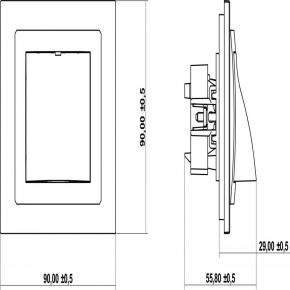Biały wypust kablowy DWPK DECO KARLIK