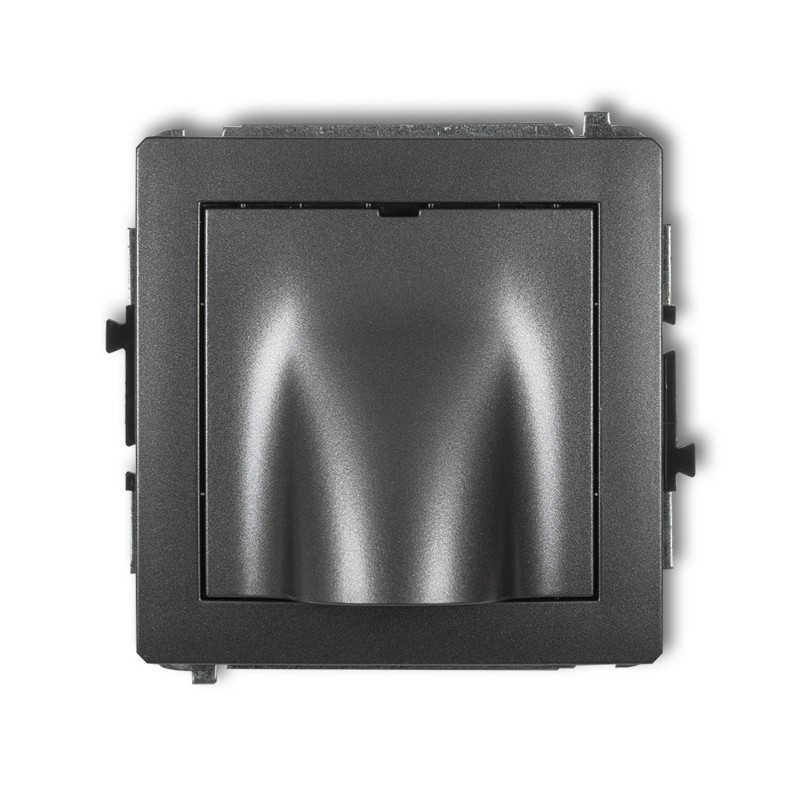 Osprzet-produkty-uzupelniajace - wypust kablowy grafit 11dwpk deco karlik firmy Karlik