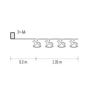 Oswietlenie-choinkowe - dekoracje - 10 led 1,35m drewniane koniki 2× aa ww, timer emos - 1534206300