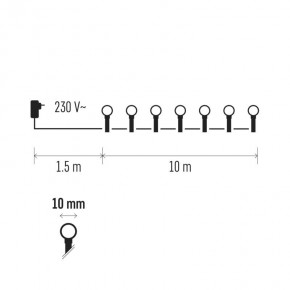 Oswietlenie-choinkowe - kolorowe oświetlenie choinkowe kulki 10m 200xled 12w ip20 zyk0209 emos