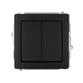 Włącznik zwierny podwójny czarny matowy 12DWP-44.2 DECO KARLIK