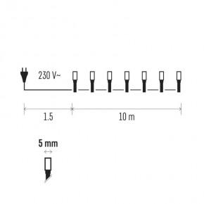 Oswietlenie-choinkowe - kolorowe lampki na choinkę 10m 200xled 12w ip20 zyk0109 emos