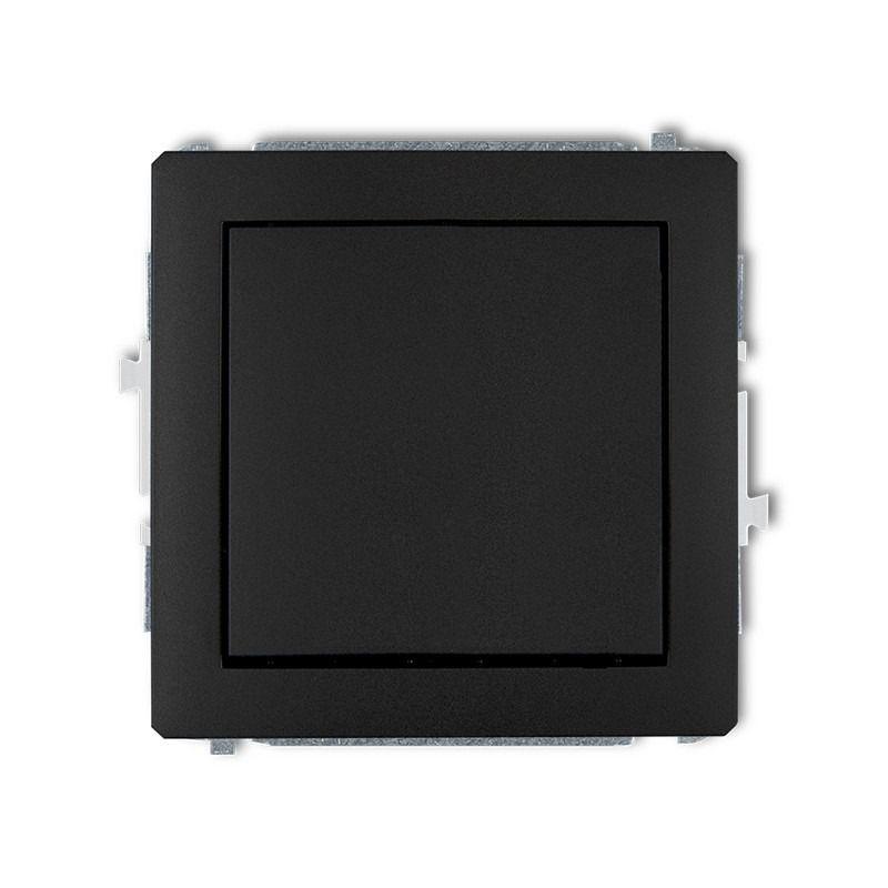 Wylaczniki-jednobiegunowe - mechanizm włącznika zwiernego jednobiegunowego czarny mat 12dwp-4.1 deco karlik firmy Karlik