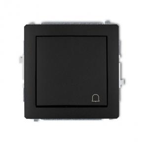 Czarny matowy przycisk dzwonkowy 12DWP-4 DECO KARLIK