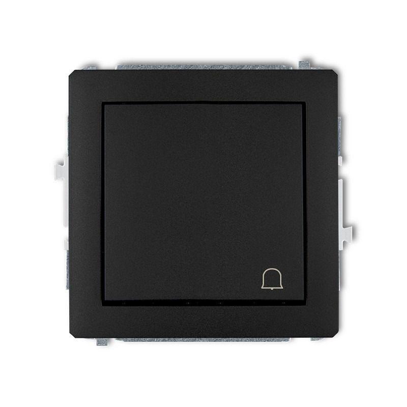 Wlaczniki-i-przyciski-dzwonkowe - czarny matowy przycisk dzwonkowy 12dwp-4 deco karlik firmy Karlik