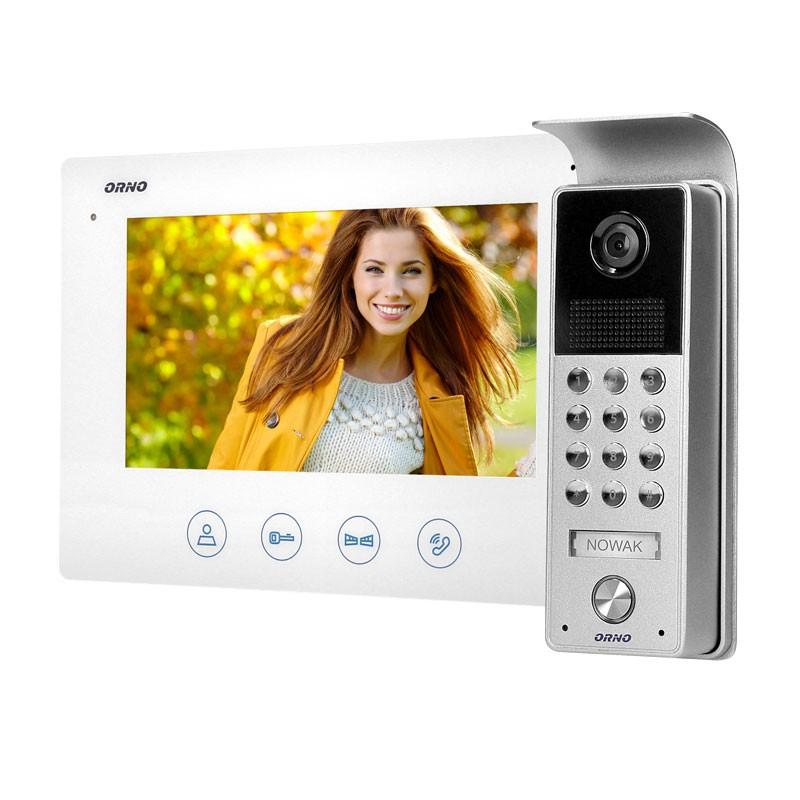 Wideodomofony - zestaw wideodomofonowy na kod ceres 7 or-vid-me-1056/w orno firmy ORNO