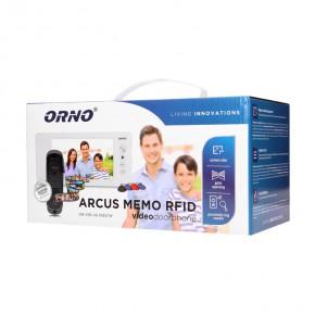 Wideodomofony - zestaw wideodomofonowy arcus rfid 7 czarny or-vid-js-1053/b orno