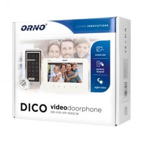 Wideodomofony - zestaw wideodomofonowy na kod dico 7 biały or-vid-vp-1055/w orno
