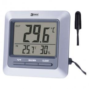 Termometry-i-stacje-pogodowe - termometr cyfrowy z czujnikiem przewodowym 3m 1x1,5v aaa e8860 emos