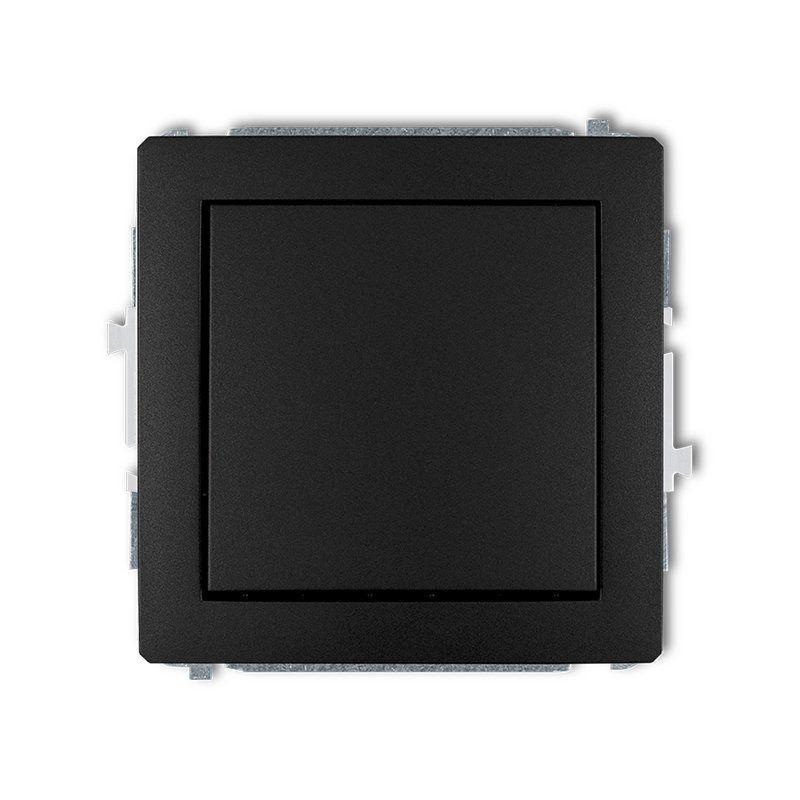 Wylaczniki-jednobiegunowe - włącznik czarny mat jednobiegunowy 12dwp-1 deco karlik firmy Karlik