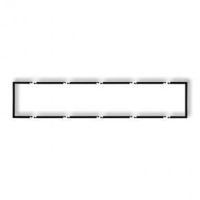 Pięciokrotna ramka czarna matowa wypełniająca 12DRW-5 DECO KARLIK