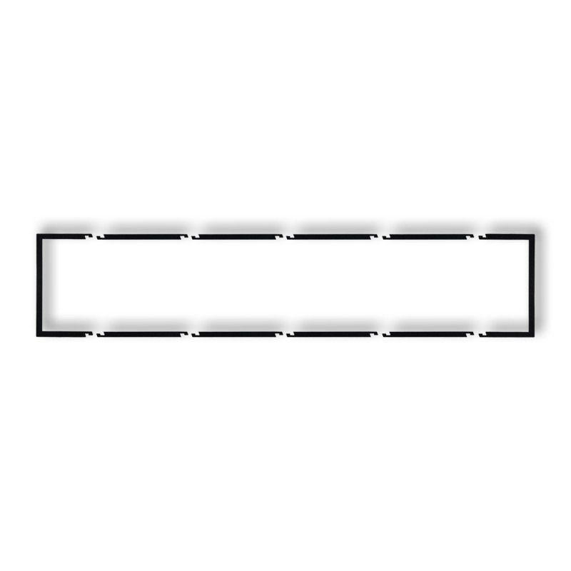 Osprzet-produkty-uzupelniajace - pięciokrotna ramka czarna matowa wypełniająca 12drw-5 deco karlik firmy Karlik