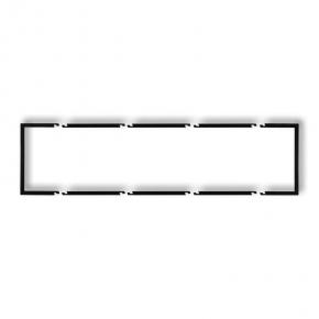 Ramki-poczworne - poczwórna wypełniająca ramka czarna matowa 12drw-4 deco karlik