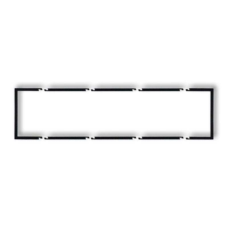 Ramki-poczworne - poczwórna wypełniająca ramka czarna matowa 12drw-4 deco karlik firmy Karlik