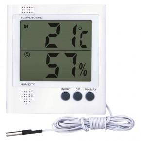 Termometry-i-stacje-pogodowe - termometr cyfrowy z czujnikiem wilgoci na baterie 2x1,5v aaa e8471 emos