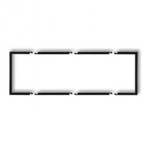Potrójna ramka wypełniająca czarna matowa 12DRW-3 DECO KARLIK