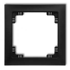 Czarna matowa ramka pojedyncza 12DRSO-1 DECO SOFT KARLIK