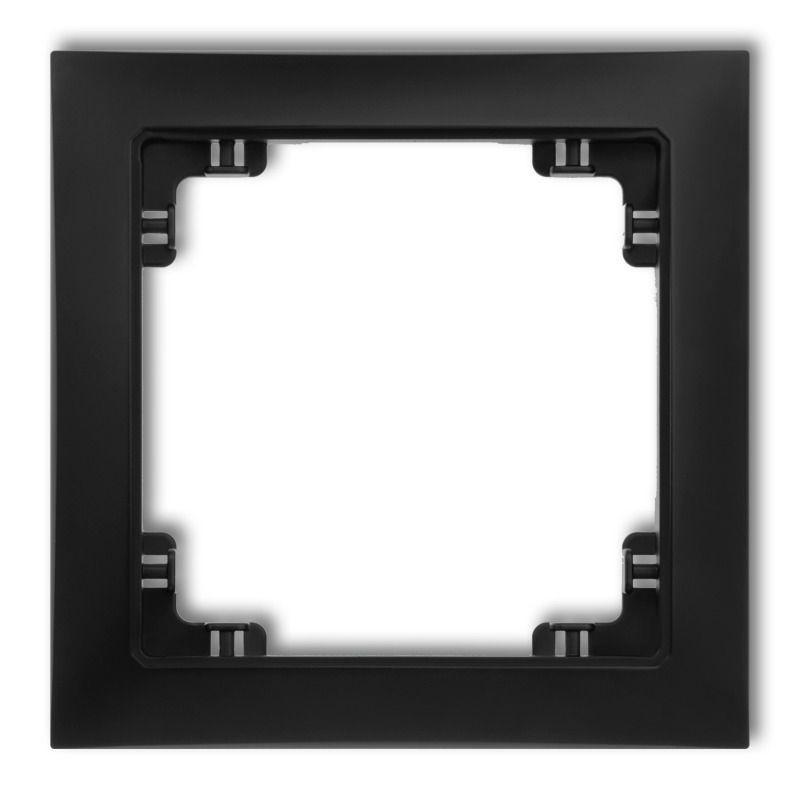 Ramki-pojedyncze - czarna matowa ramka pojedyncza 12drso-1 deco soft karlik firmy Karlik