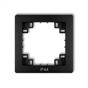 Czarna matowa ramka pośrednia do włączników IP44 12DRPH DECO KARLIK
