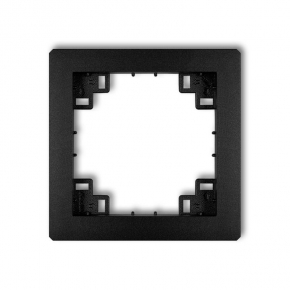 Pośrednia ramka czarna matowa (bez sitodruku) 12DRP DECO KARLiK
