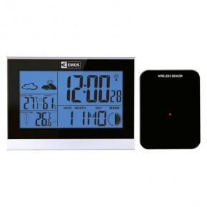 Termometry-i-stacje-pogodowe - stacja pogodowa bezprzewodowa z podświetlanym na niebiesko wyświetlaczem e3070 emos