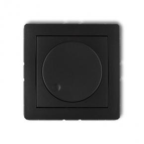 Czarny matowy ściemniacz przyciskowo-obrotowy 12DRO-1 DECO KARLIK