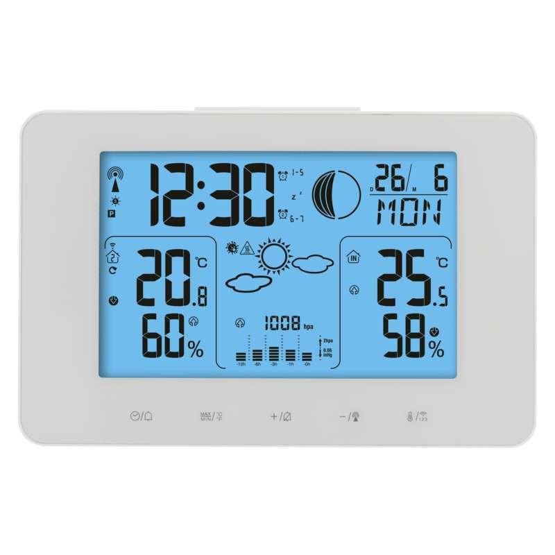 Termometry-i-stacje-pogodowe - stacja meteorologiczna bezprzewodowa na baterie 60m biały e8825 emos firmy EMOS