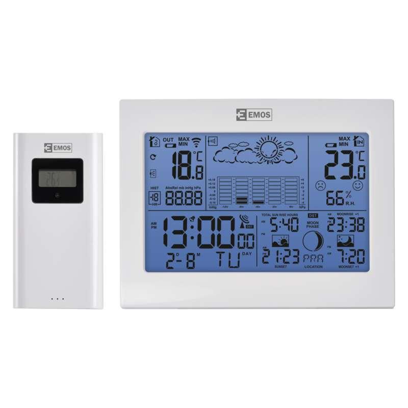 Termometry-i-stacje-pogodowe - stacja pogodowa z czujnikiem bezprzewodowym 60m e8835 emos firmy EMOS