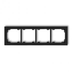 Poczwórna ramka instalacyjna czarna matowa 12DR-4 DECO KARLIK