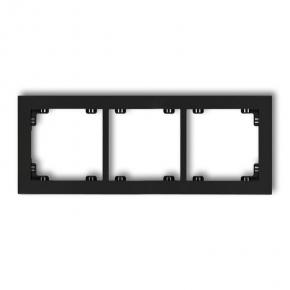 Potrójna ramka czarny mat 12DR-3 DECO KARLIK