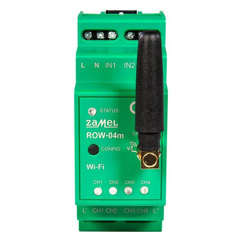 Sterowniki-i-odbiorniki - odbiornik wi-fi 4-kanałowy na szynę row-04m supla zamel firmy ZAMEL
