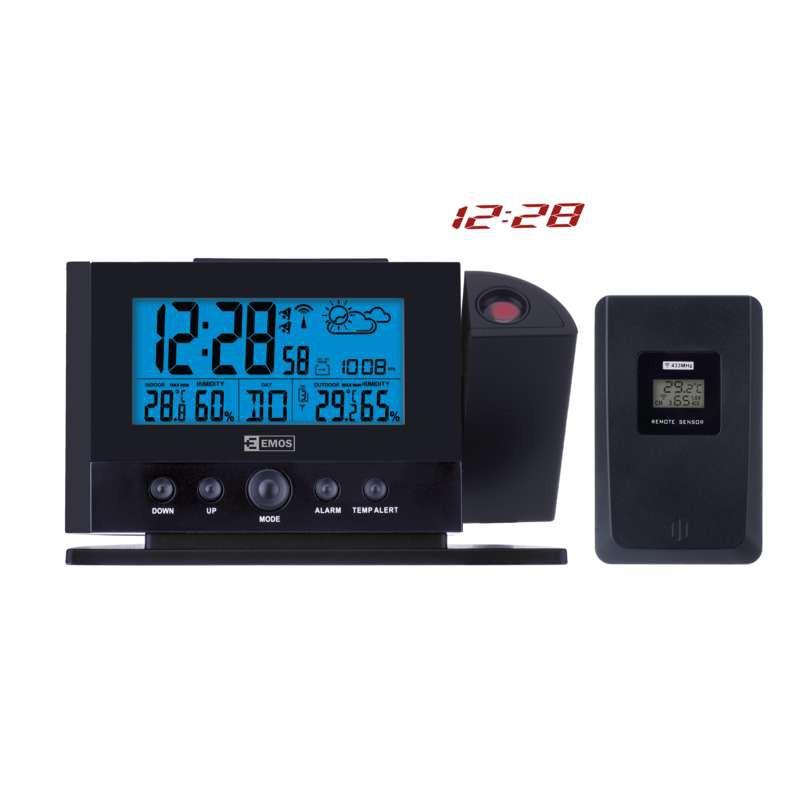 Termometry-i-stacje-pogodowe - stacja pogodowa bezprzewodowa z projektorem czarny e0211 emos firmy EMOS