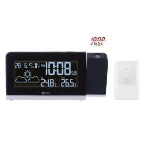 Termometry-i-stacje-pogodowe - stacja meteorologiczna z projektorem biała na baterie e8466 emos