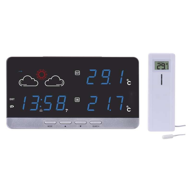 Termometry-i-stacje-pogodowe - bezprzewodowa stacja meteorologiczna biała z czujnikiem 30m e5201 emos firmy EMOS